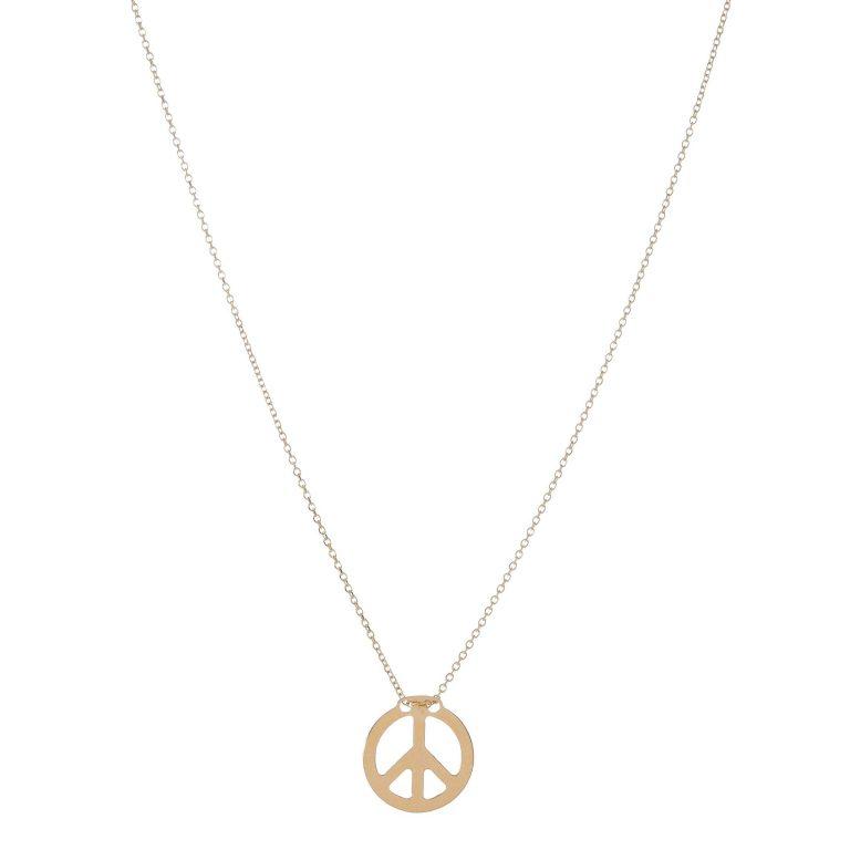 Simple Peace Sign Necklace