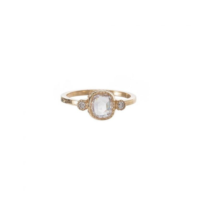 Cushion Cut & Round Diamond Ring
