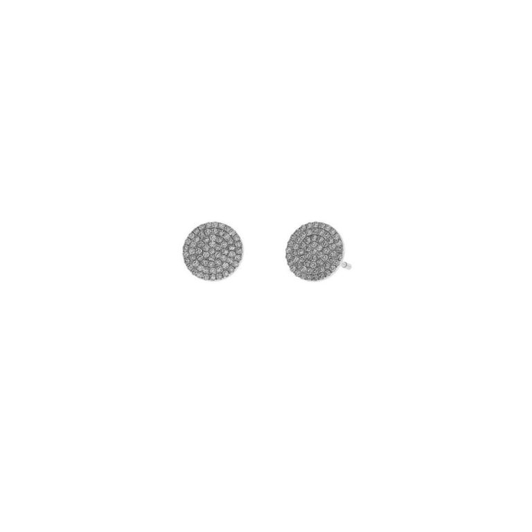 Small Pave Disc Studs