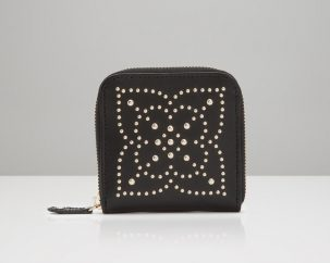 Black Studded Jewelry Wallet