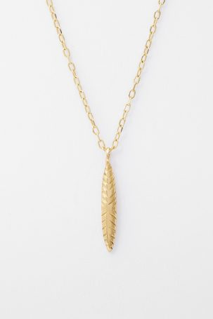 Etched Ovate Necklace