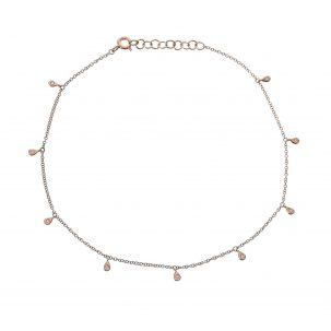 Diamond Teardrop Fringe Anklet