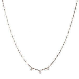 Floating Diamond Trio Necklace