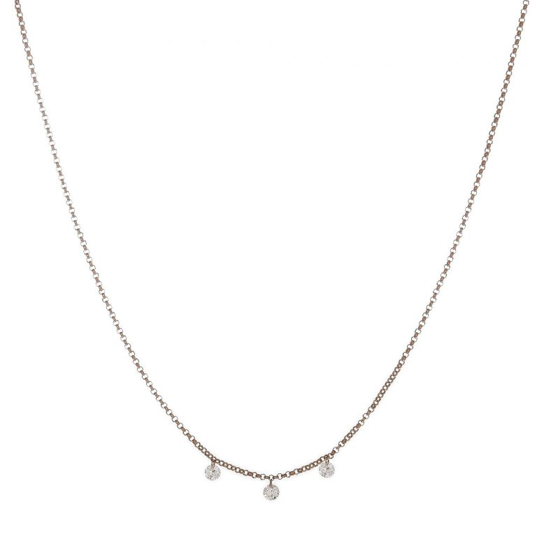 Floating Diamond Trio Necklace