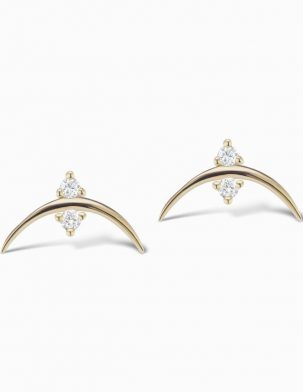 Diamond Crescent Studs