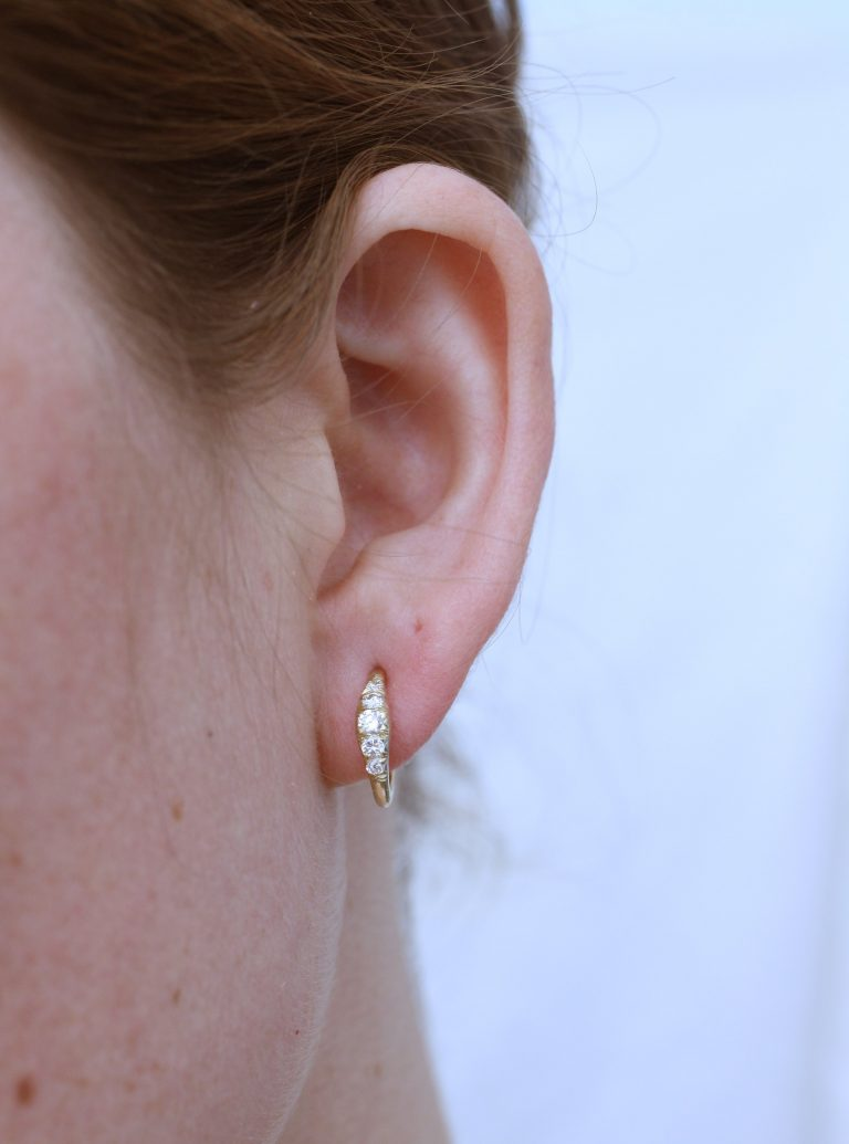 Diamond Ovate II Hoops