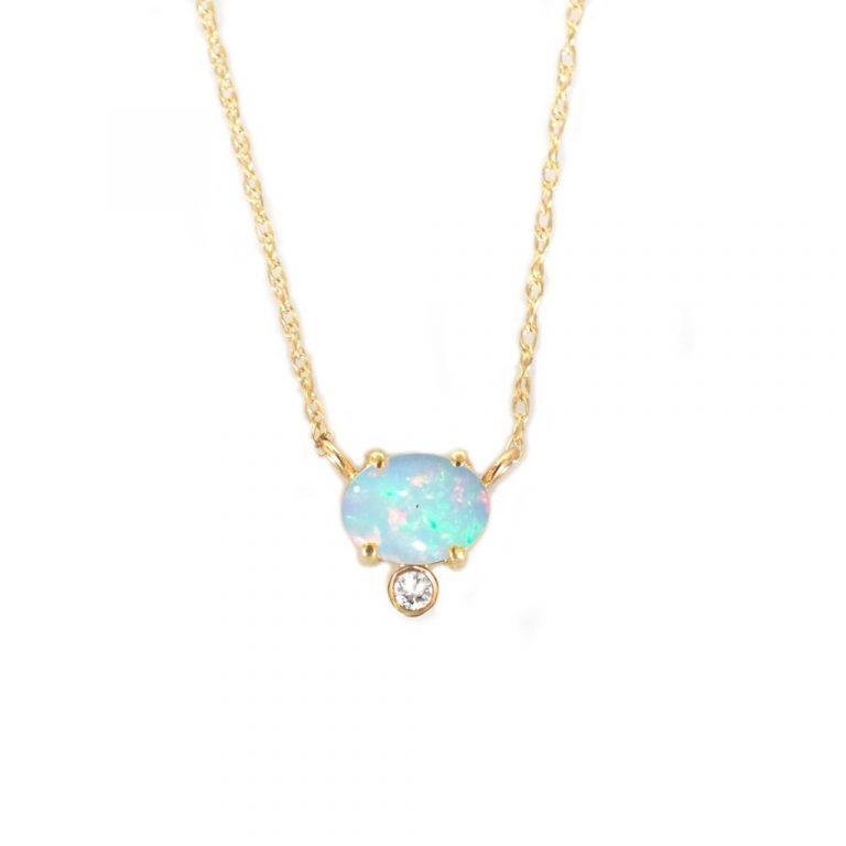 Opal & Diamond Fiore Pendant