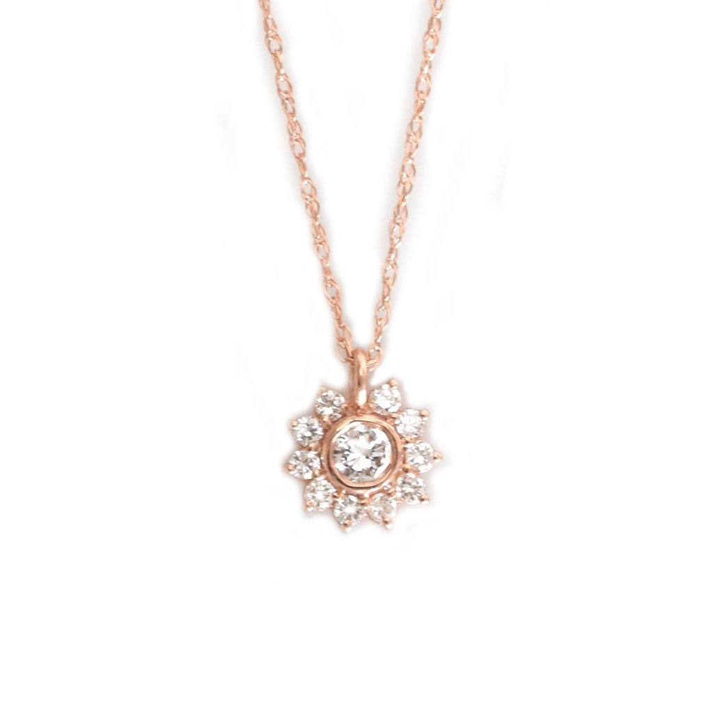 Diamond Sunflower Pendant Moondance Jewelry Gallery This necklace is a great opportunity to emphasize love and gratitude for birthdays, valentines day, anniversaries. diamond sunflower pendant