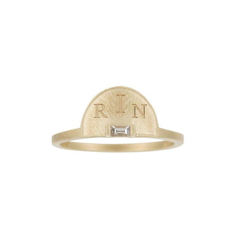 Half Moon Signet Ring