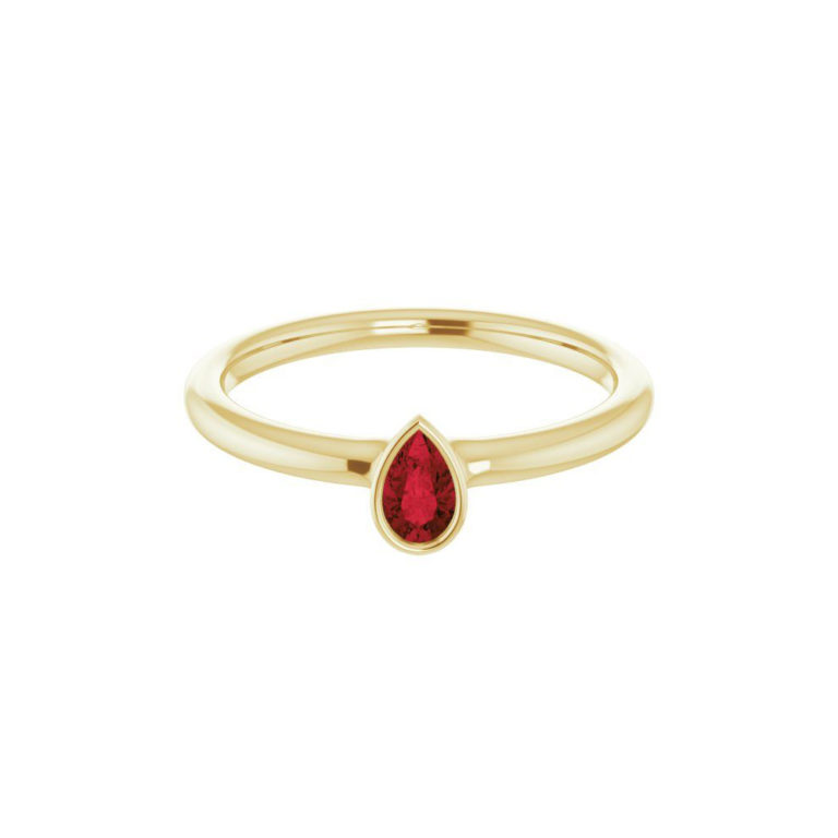 Garnet Stackable Ring - Moondance Collection