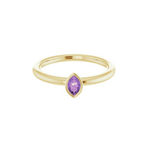 Amethyst Stackable Ring - Moondance Collection
