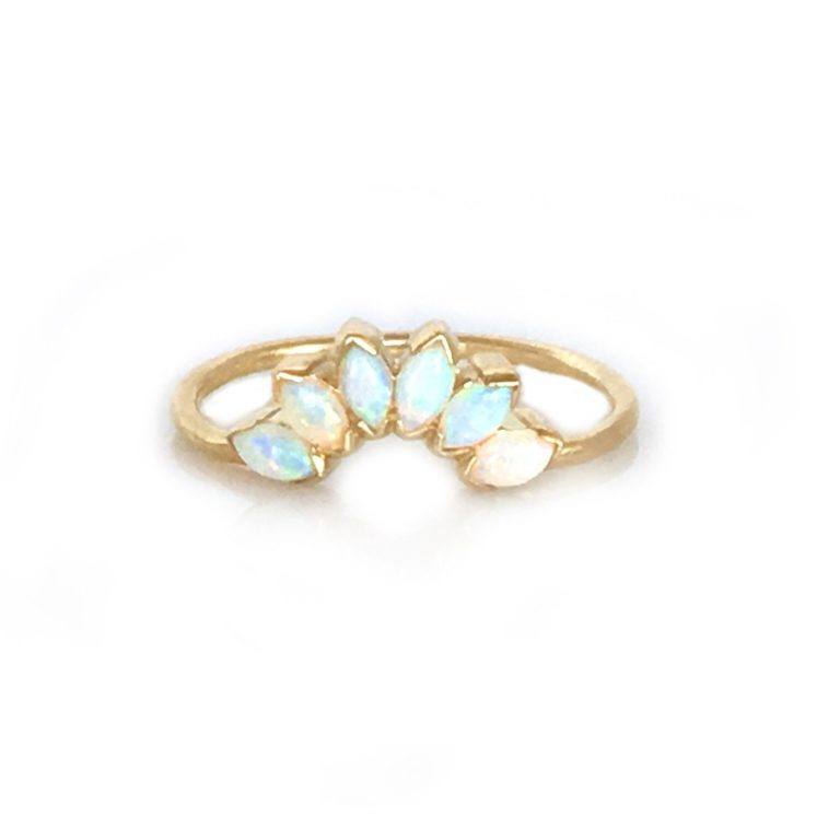 Opal Sunrise Stacking Ring