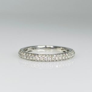 White Gold Pave Diamond Eternity Band