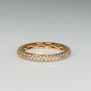 Rose Gold Pave Diamond Eternity Band