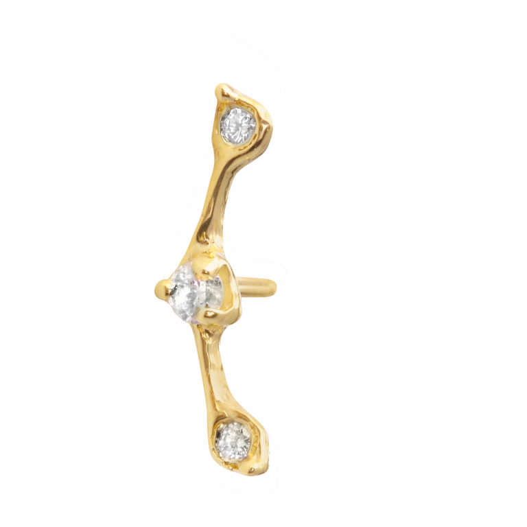 Triple Diamond Constellation Single Stud