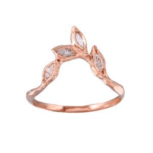 Marquis Diamond Leaf Ring