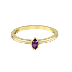 Marquise Amethyst Stacking Band