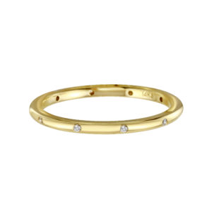 Scatter Diamond Comfort Fit Ring