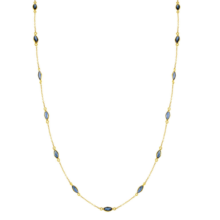 Marquis Blue Sapphire by the Yard Chain