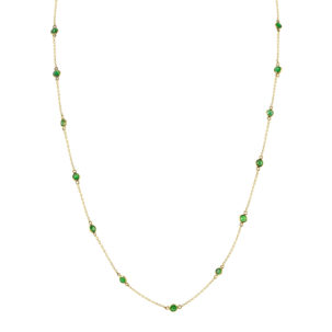 Emerald Round Bezel by the Yard Chain