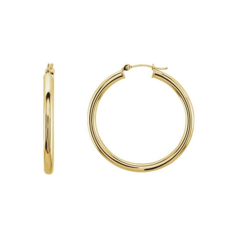 Gold Tube Earrings
