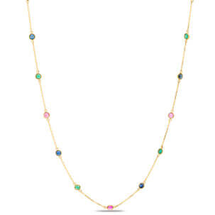 Emerald, Ruby & Sapphire Necklace