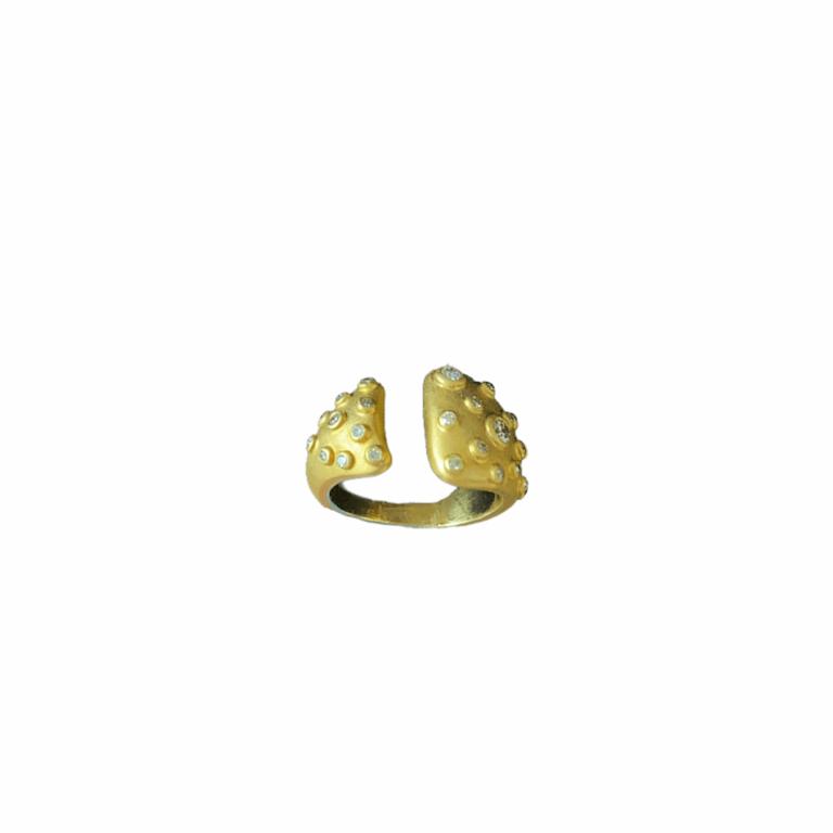 Multi-Bezel Diamond Open Ring